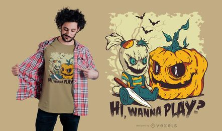 Design de camiseta do mal de Halloween