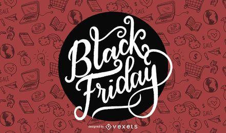 Diseño promocional del viernes negro