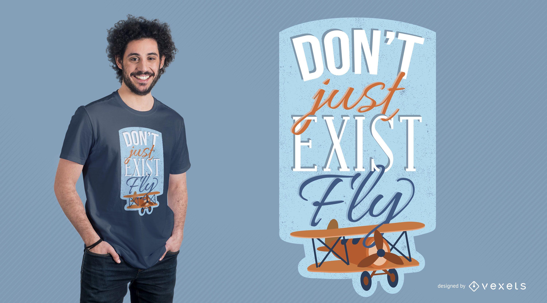 Dise?o de camiseta de cita de avi?n de aviador
