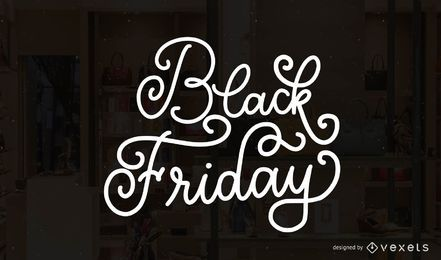 Black Friday lettering badge