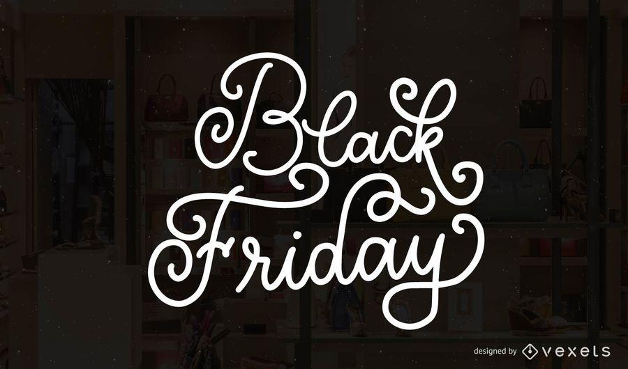Insignia de letras de viernes negro