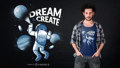 Diseño de camiseta Astronaut Graffiti