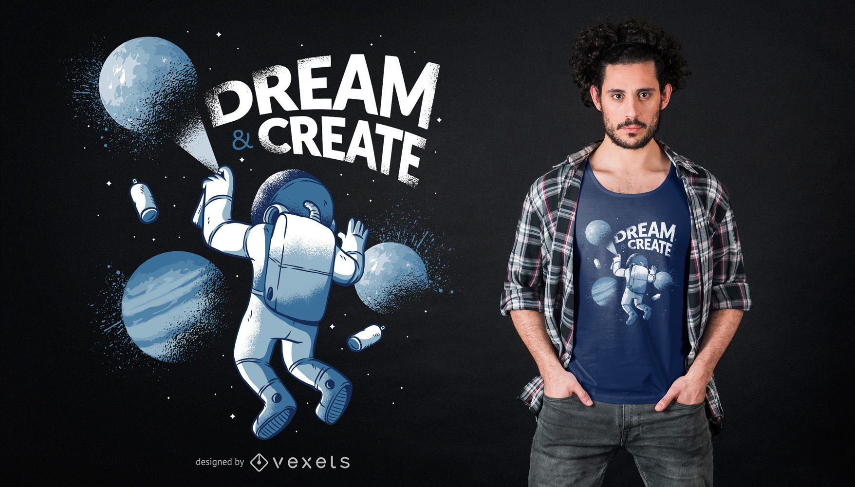 Astronaut Graffiti T-shirt Design