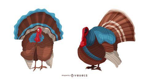 Ilustração de pássaro da Turquia