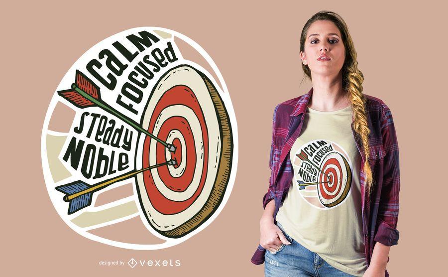 Projeto do t-shirt do alvo do tiro ao arco