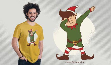 Projeto do t-shirt do Natal da sujeição do duende