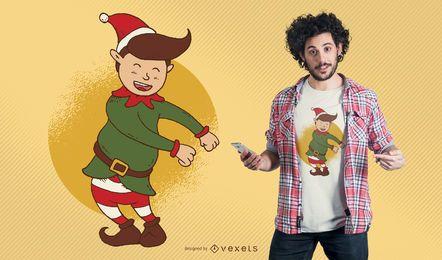 Diseño de camiseta de Navidad Elf Floss Dance