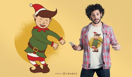 Elf Floss Dance Christmas T-shirt Design