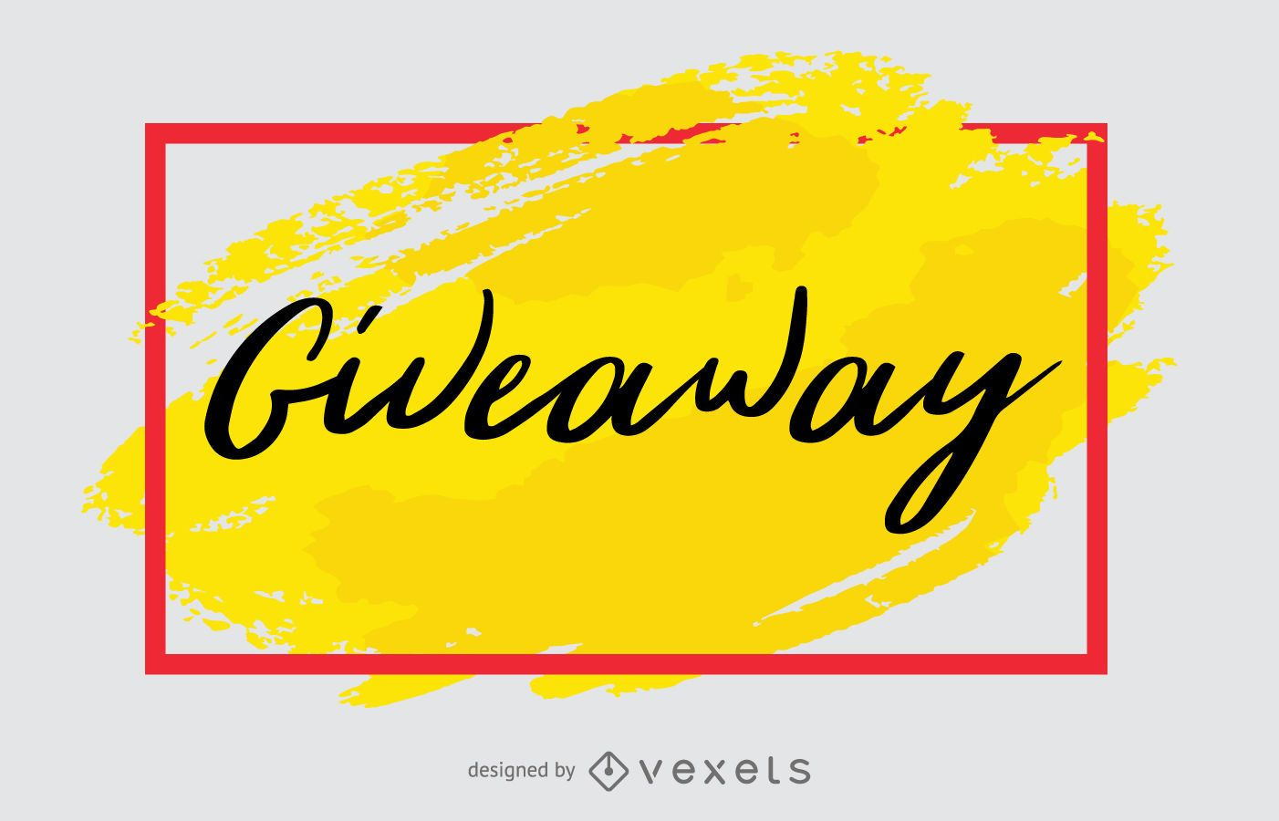 giveaway generic promo banner design vector download