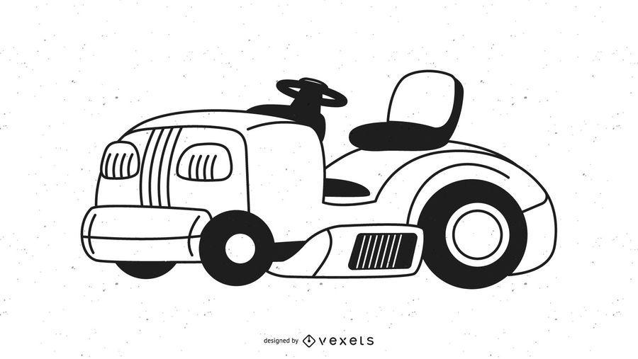 Generic Ride On Lawnmower Graphic