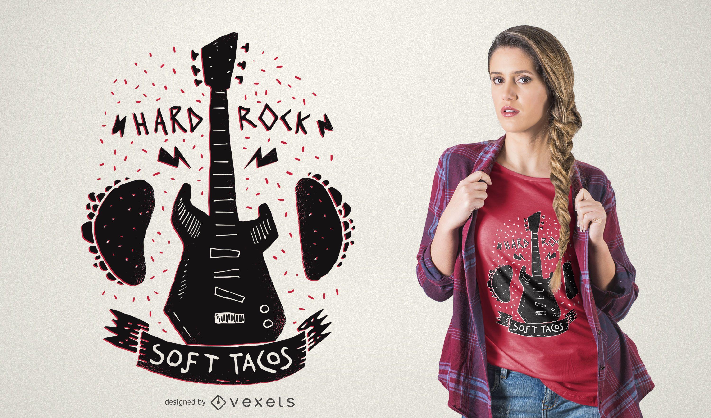 Diseño de camiseta Rock 'n Roll Music Tacos