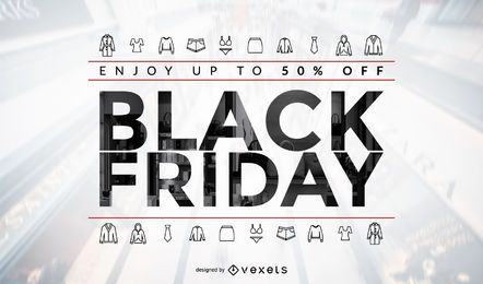 Black Friday Kleidung Verkauf Design