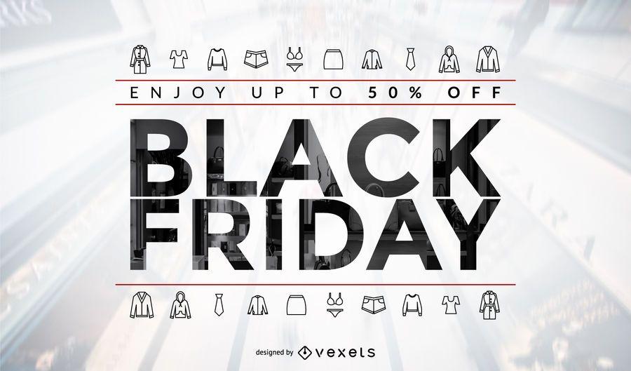 Black Friday Clothes Sale Design