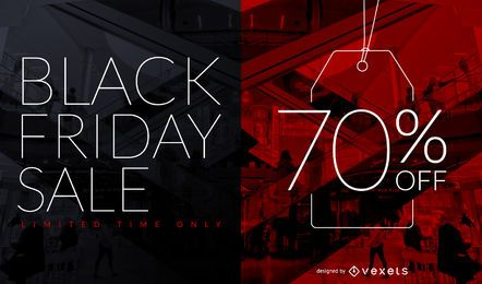 Design de etiqueta de desconto de venda da Black Friday