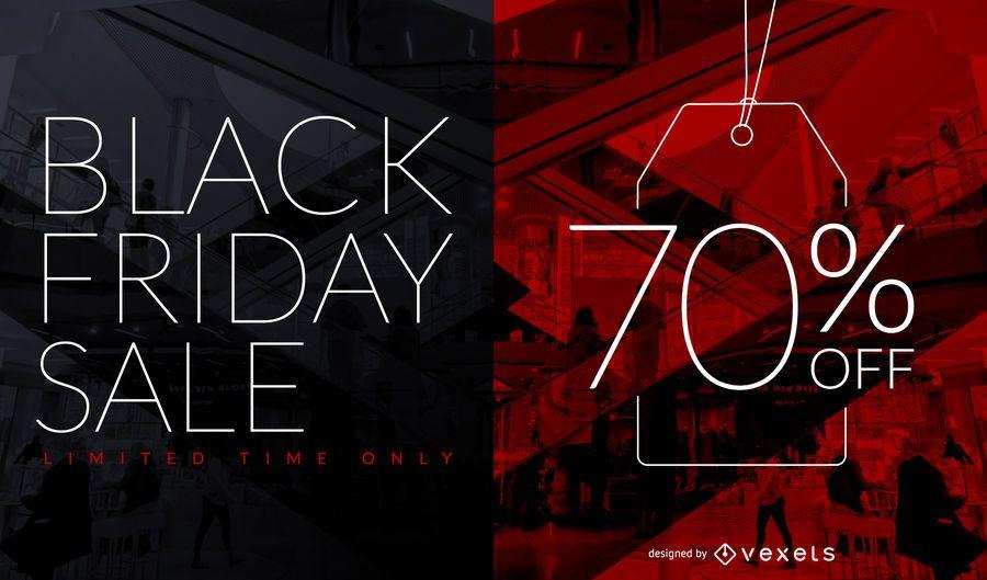 Design de etiqueta de desconto de venda da Black Friday
