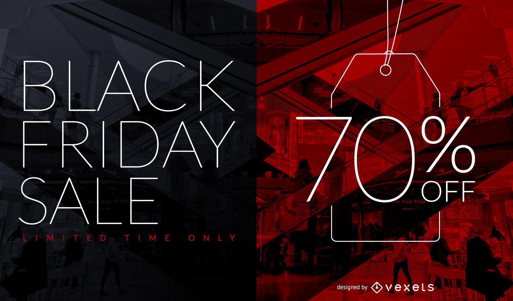 Black Friday Sale Discount Tag Design