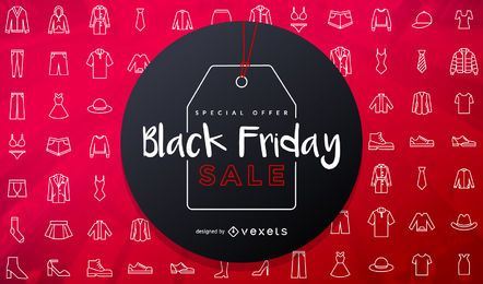 Black Friday Sale Sticker Design