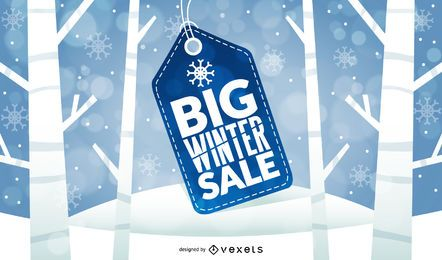 Big Winter Sale Price Tag Design