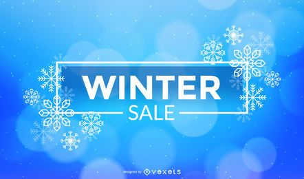Winter Sale Snowflakes Design