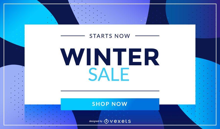 Oferta de invierno Compre ahora diseño