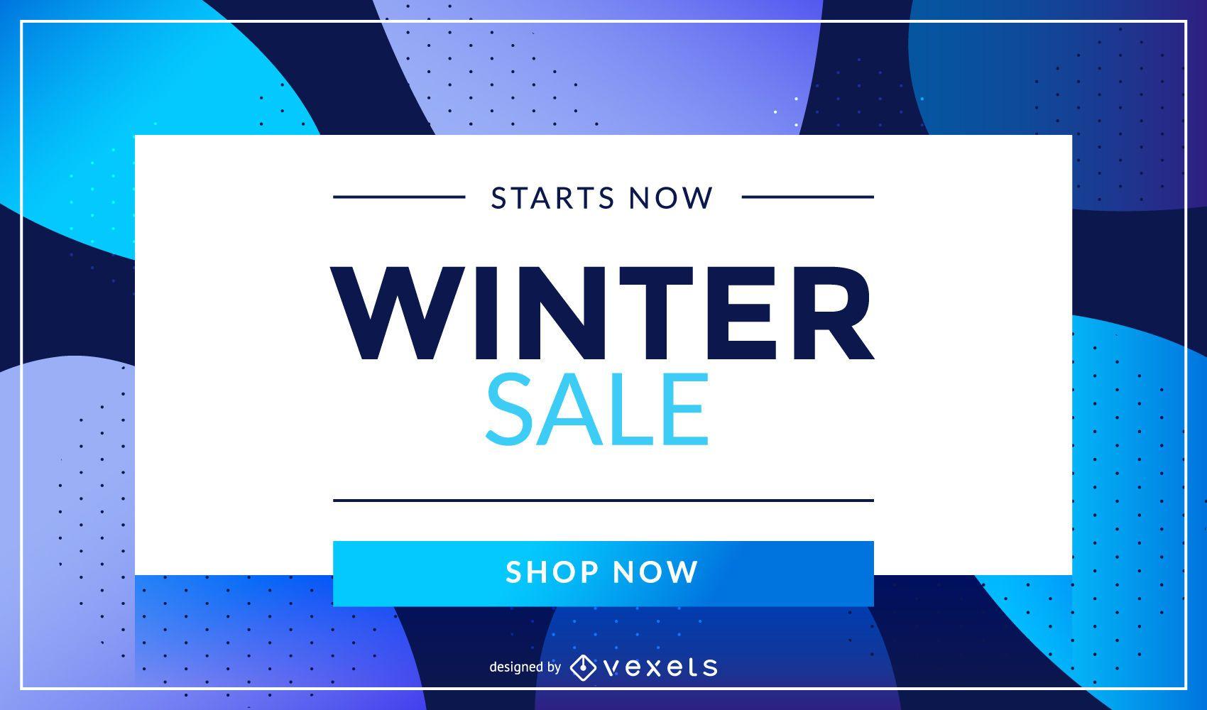Winter Sale Shop Now Design