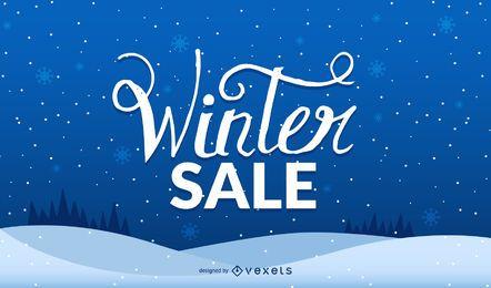 Diseño de paisaje de venta de invierno