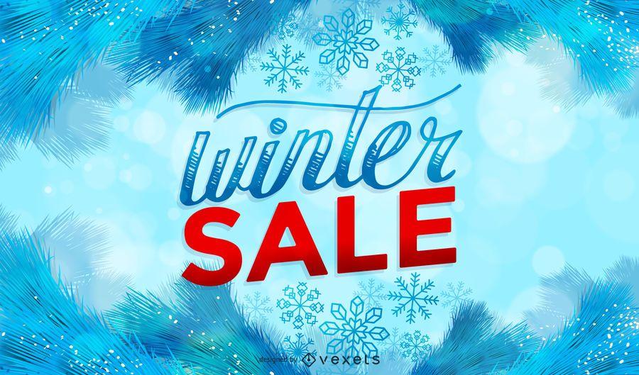 Frosty Winter Sale Design