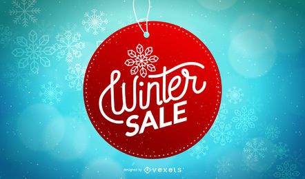 Winter Sale Circle Tag Design