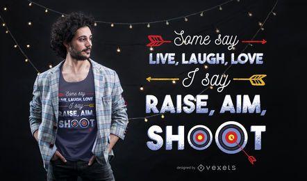 Diseño de camiseta de cita de tiro con arco