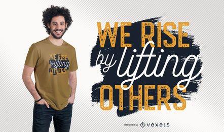 Design de t-shirt de citação motivacional