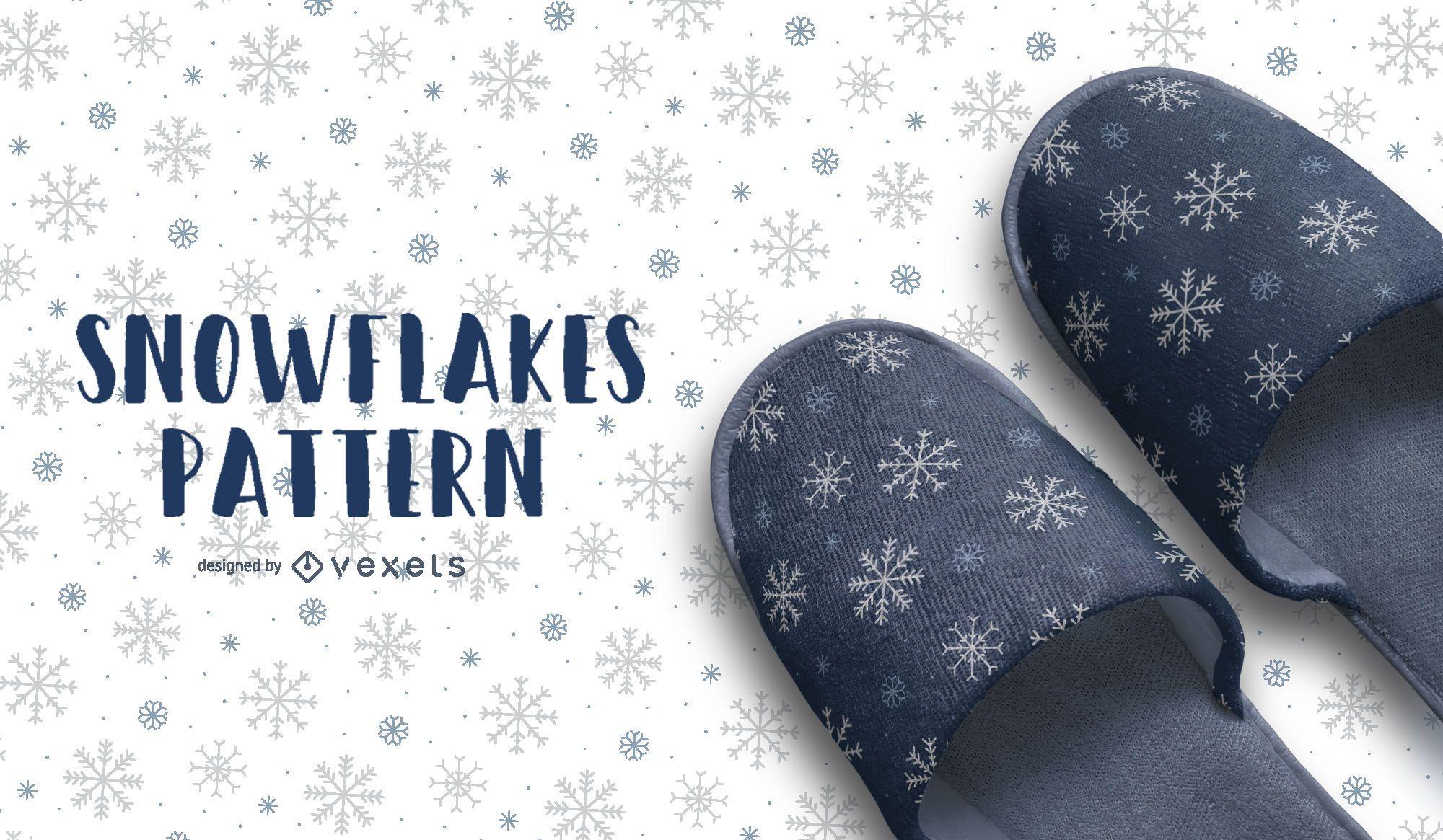 Artistic Snowflakes Pattern