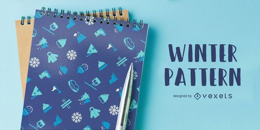 Winter ski themed pattern