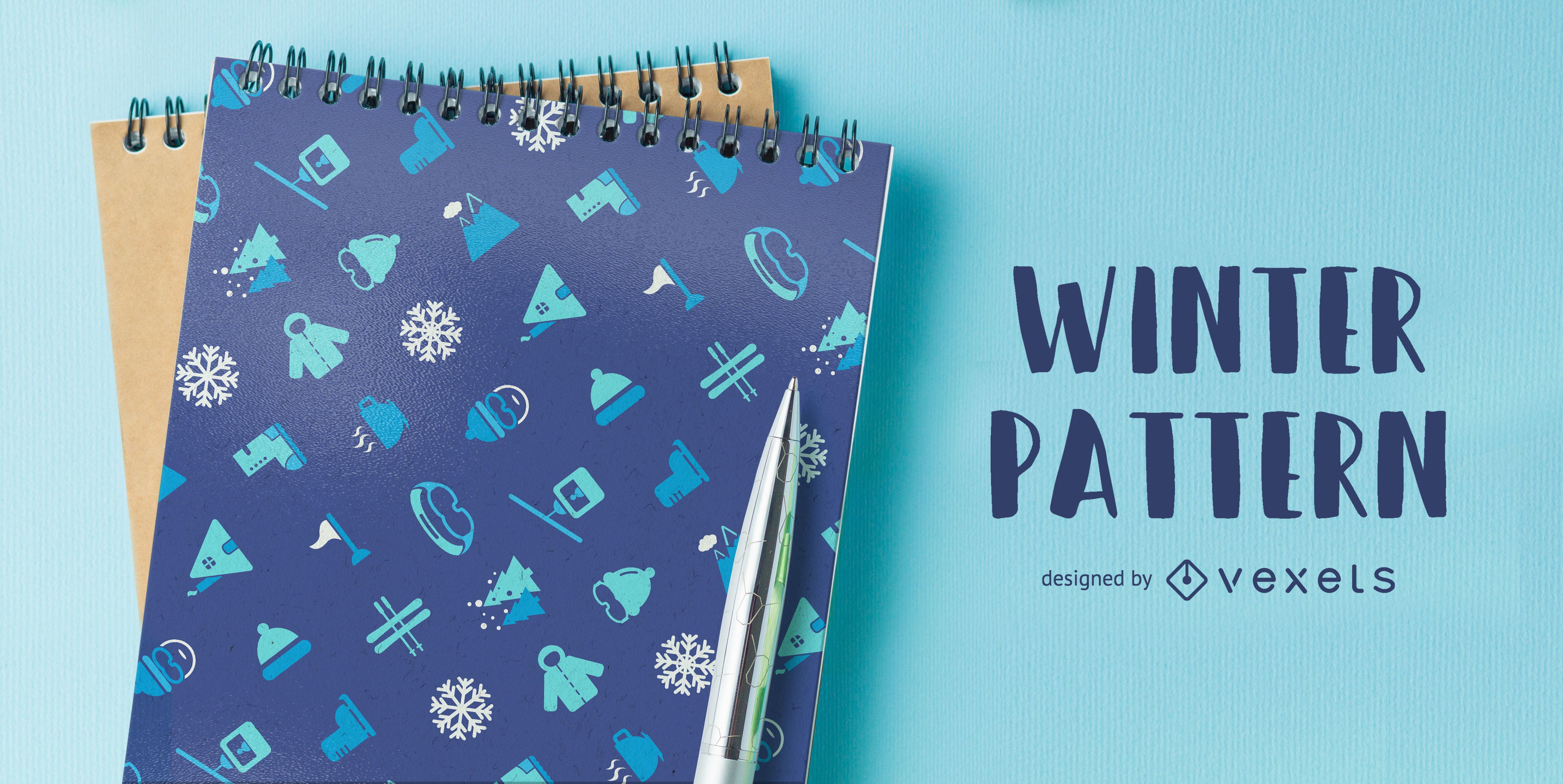 Winter ski themed pattern