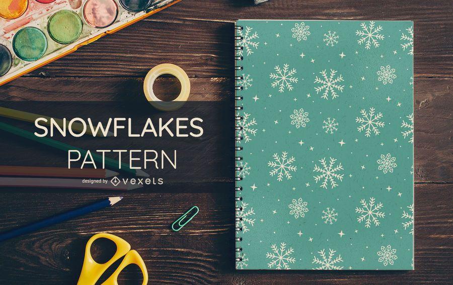 Schneeflocken-Winter-Muster