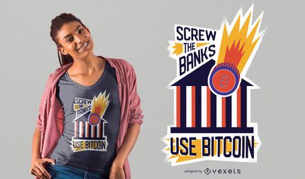 Use o design de t-shirt Bitcoin