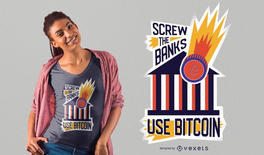 Use Bitcoin t-shirt design