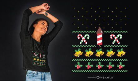 Sudadera fea de diseño de camiseta navideña.
