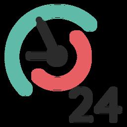 24 horas ícone de contato
