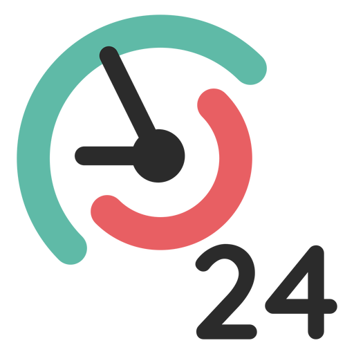 24 hours contact icon Transparent PNG