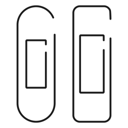 Iconos de baño de icono de trazo de vendaje adhesivo