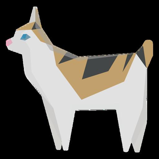 Ilustración geométrica de gato bobtail americano Transparent PNG