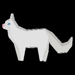 Ilustração geométrica de gato angorá