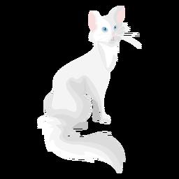 Ilustração de gato angorá