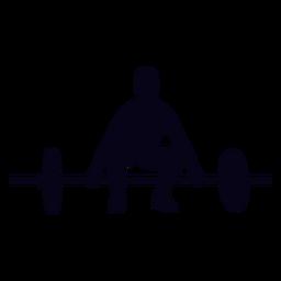 Barbell elevación preparación crossfit silueta