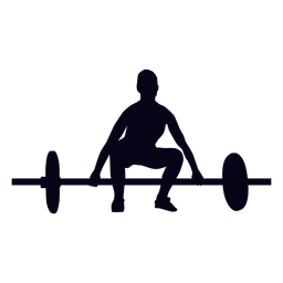 Barbell lift preparation crossfit silhouette