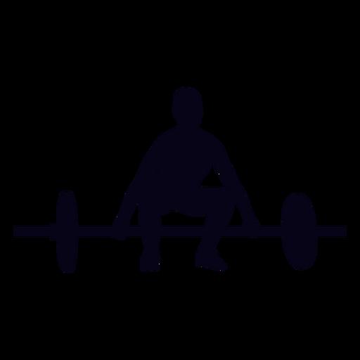 Barbell elevación preparación crossfit silueta Transparent PNG