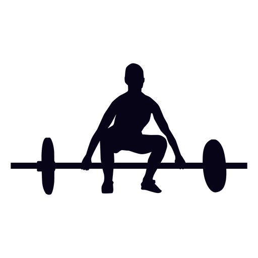 Barbell lift preparation crossfit silhouette Transparent PNG