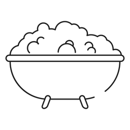 Bath tub stroke icon