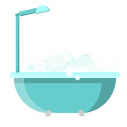 Bath tub with shower icon