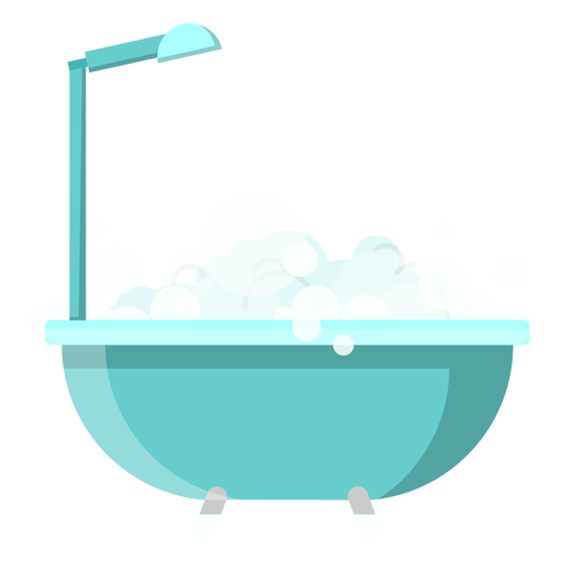Bath tub with shower icon Transparent PNG